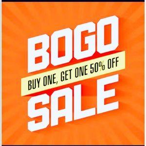 Buy one item get second item 50% off